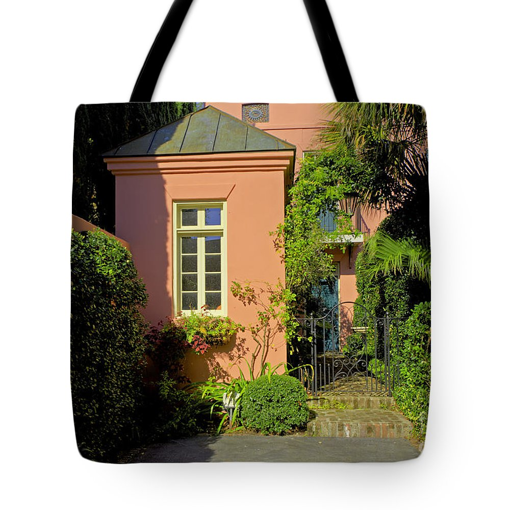 Townhouse Tote Bag featuring the photograph Townhouse by Bruce Bain