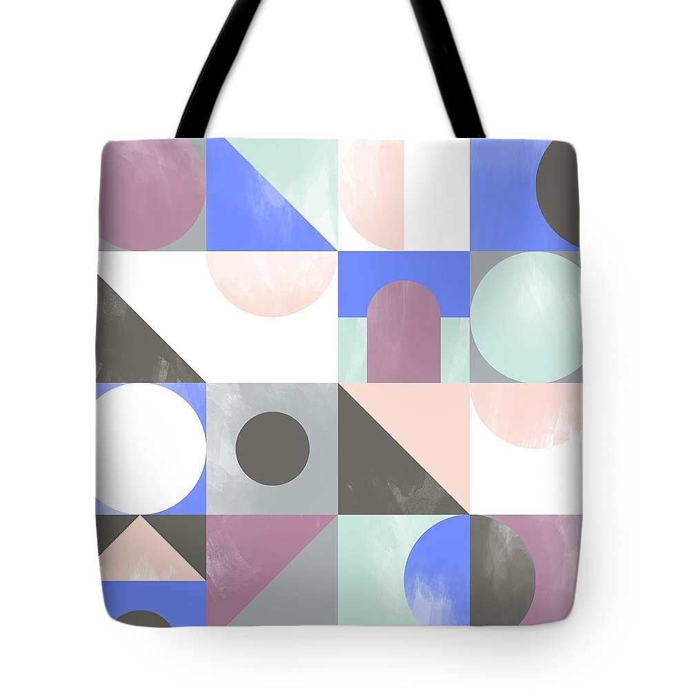 Pattern Tote Bag featuring the painting Toy Blocks by Laurence Lavallee