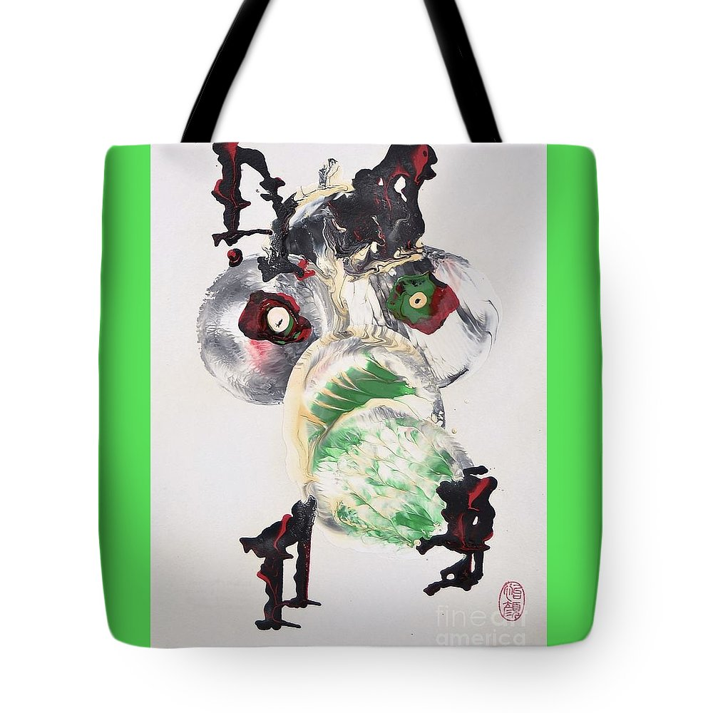 Original Tote Bag featuring the painting Toyo No Sanagi by Roberto Prusso