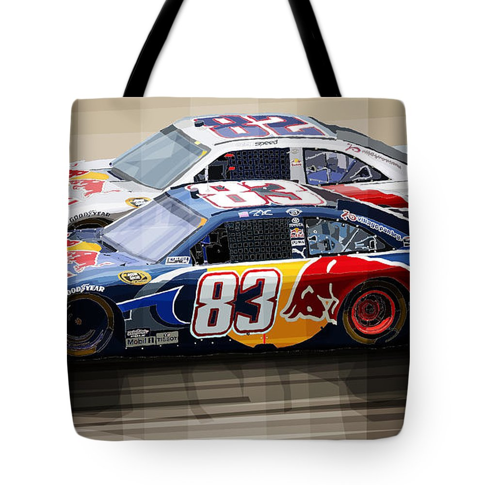Toyota Camry Nascar Nextel Cup 2007 Tote Bag For Sale By Yuriy Shevchuk
