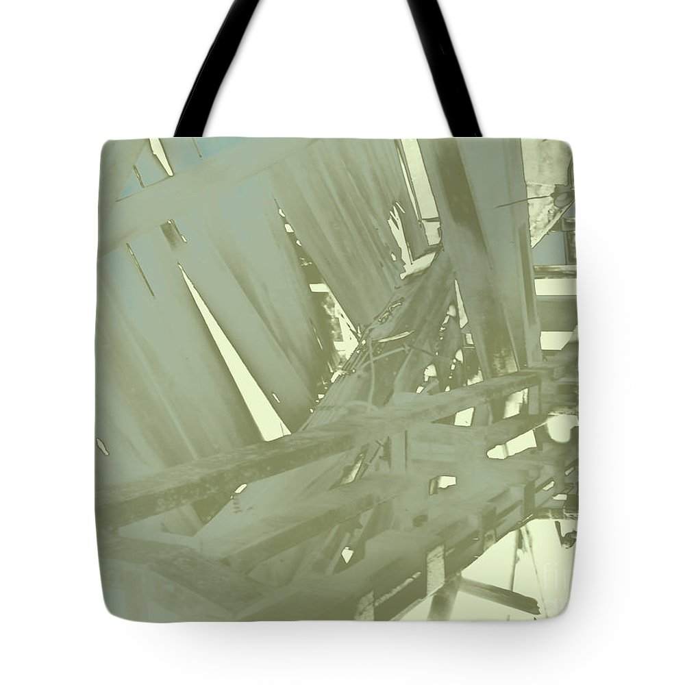 Urban Industrial Tote Bag featuring the photograph Tracks by CR Leyland