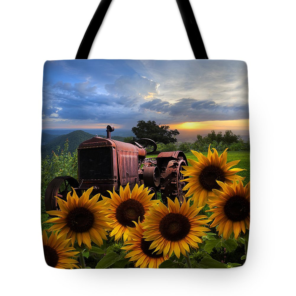 Appalachia Tote Bag featuring the photograph Tractor Heaven by Debra and Dave Vanderlaan