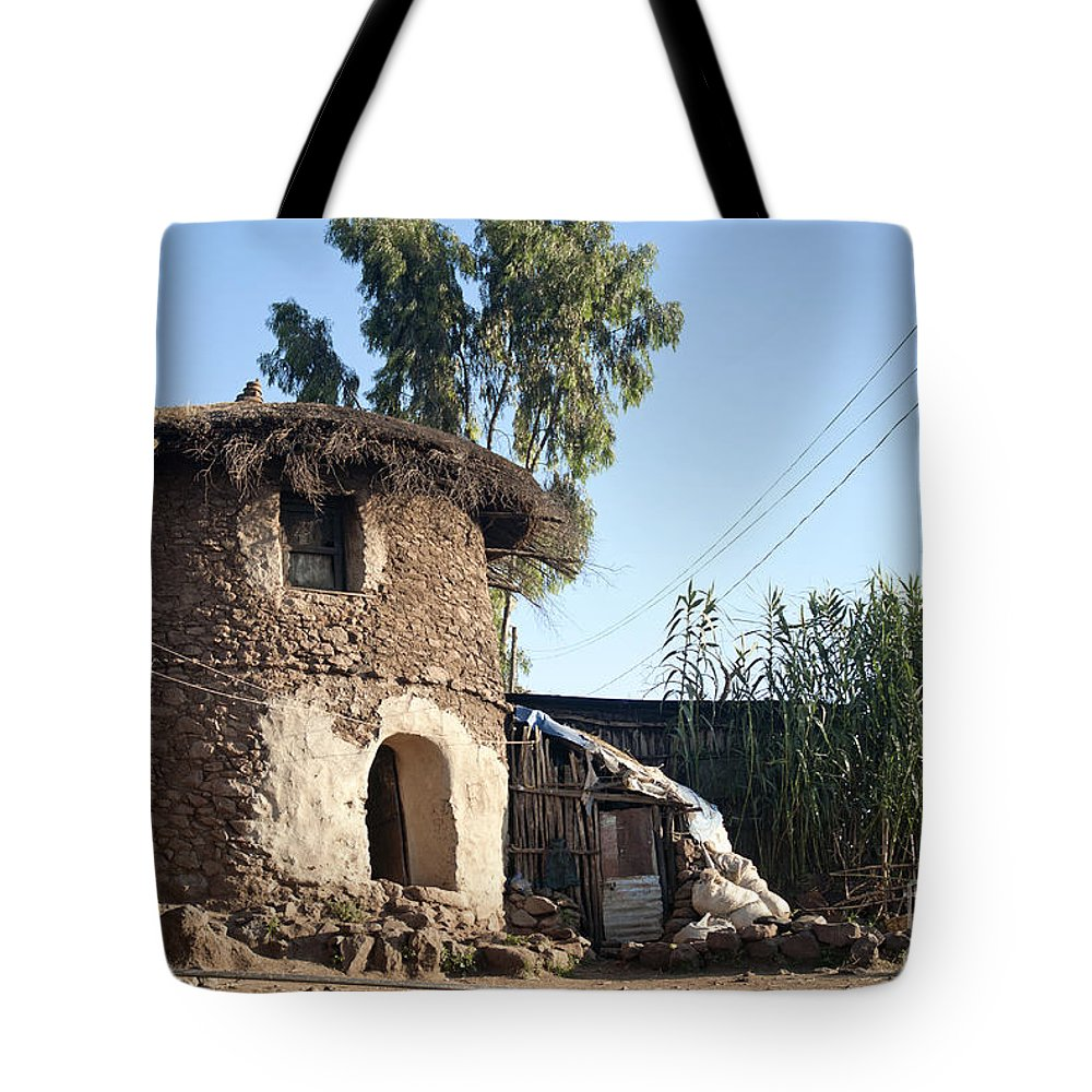 Traditional African Village Houses In Lalibela Ethiopia Tote Bag For