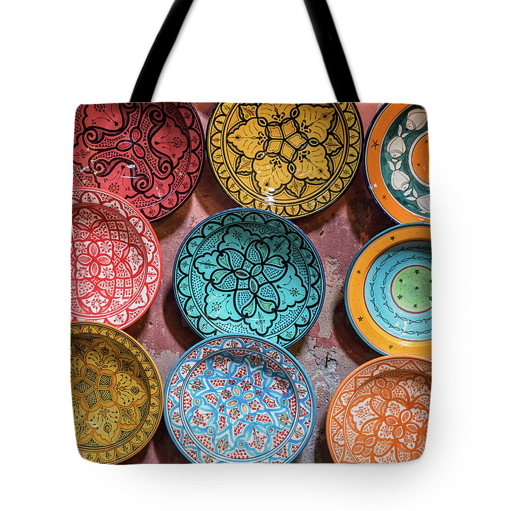 Art Tote Bag featuring the photograph Traditional Ceramic Moroccan by Guyberresfordphotography
