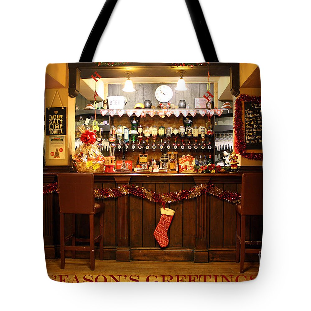 Christmas Tote Bag featuring the photograph Traditional Seasons Greetings by Terri Waters