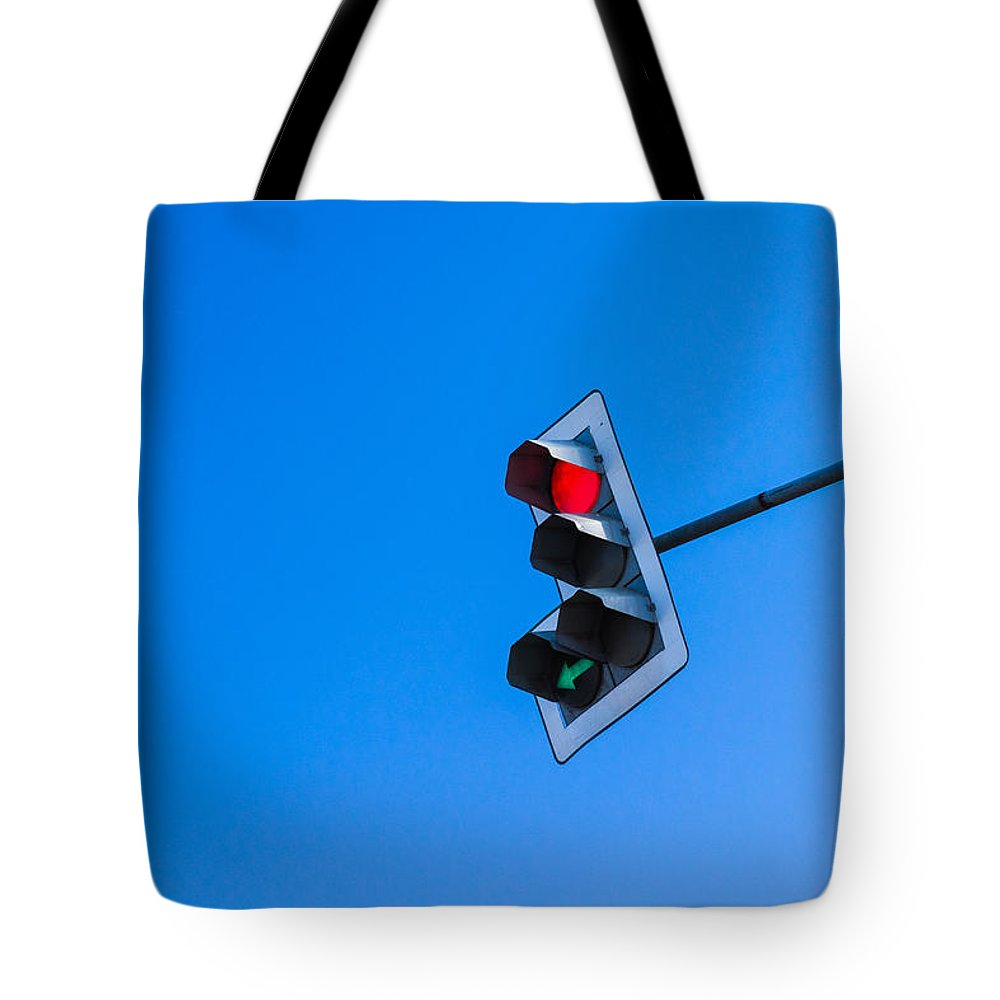 Arrow Tote Bag featuring the photograph Traffic Light - Featured 3 by Alexander Senin
