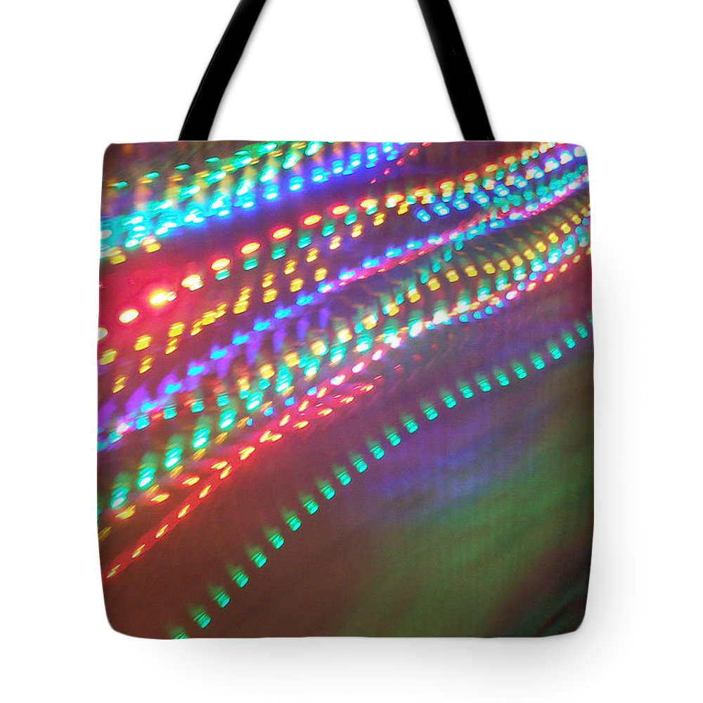 Tote Bag featuring the photograph Trailing Xmas Lights by David Pantuso