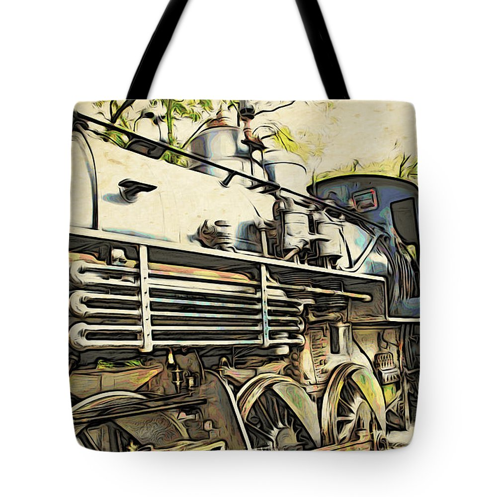 Train Tote Bag featuring the photograph Train Is Coming Two by Alice Gipson