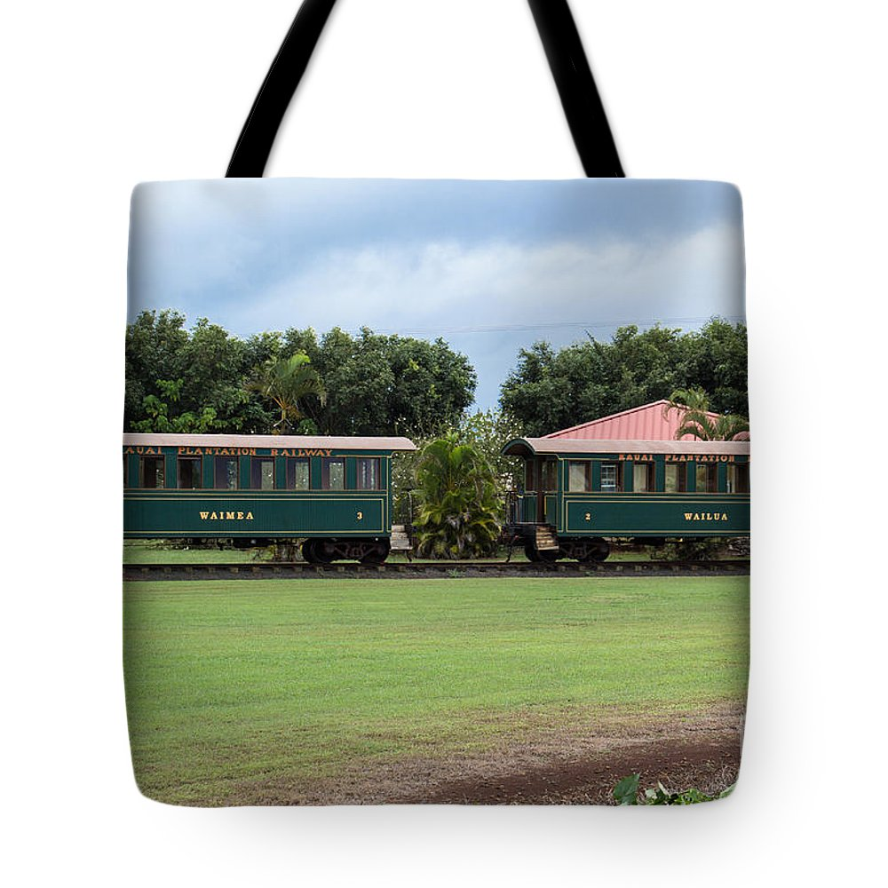 Hawaiian Tote Bag featuring the photograph Train Lovers by Suzanne Luft