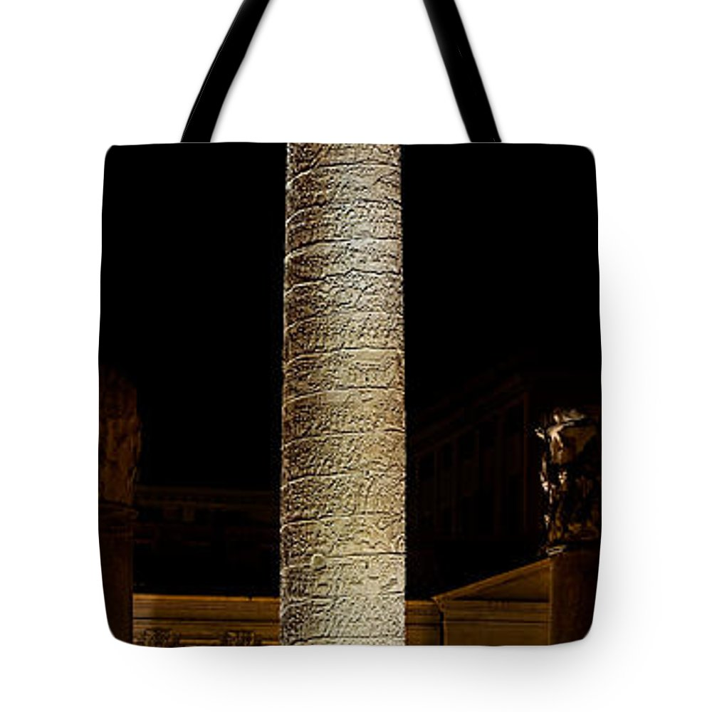 Trajan Tote Bag featuring the photograph Trajans Column by Weston Westmoreland