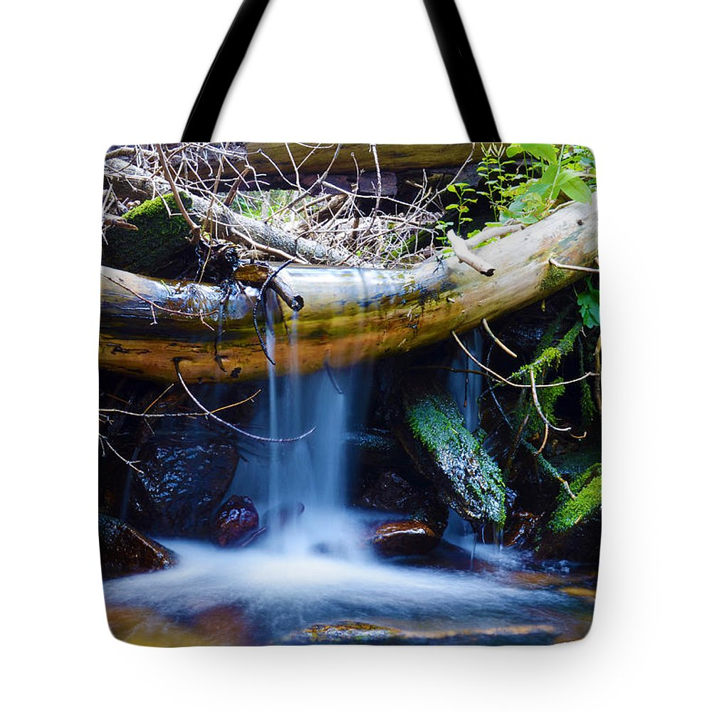 Stream Tote Bag featuring the photograph Tranquil Falls by Gary Mosman