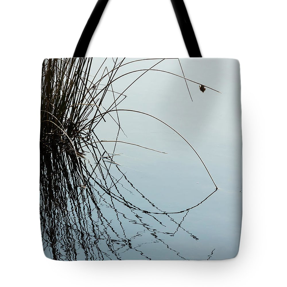 Water Tote Bag featuring the photograph Tranquil Reeds by Tami Stieger