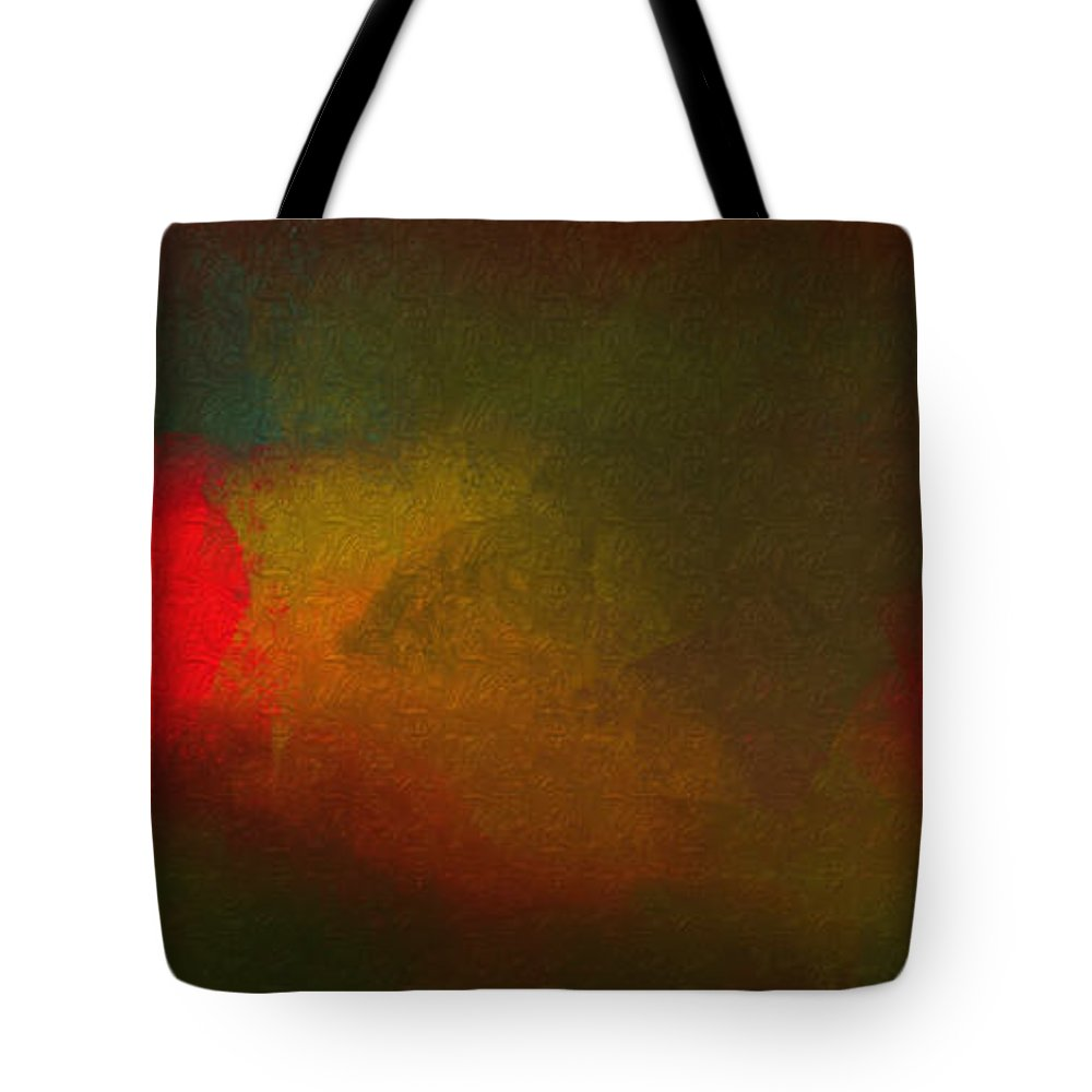 Abstract Tote Bag featuring the digital art Tranquility by Andee Design