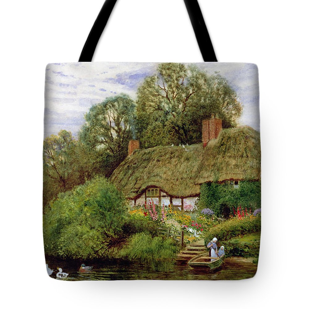 Tranquility Tote Bag featuring the painting Tranquility by Arthur Claude Strachan