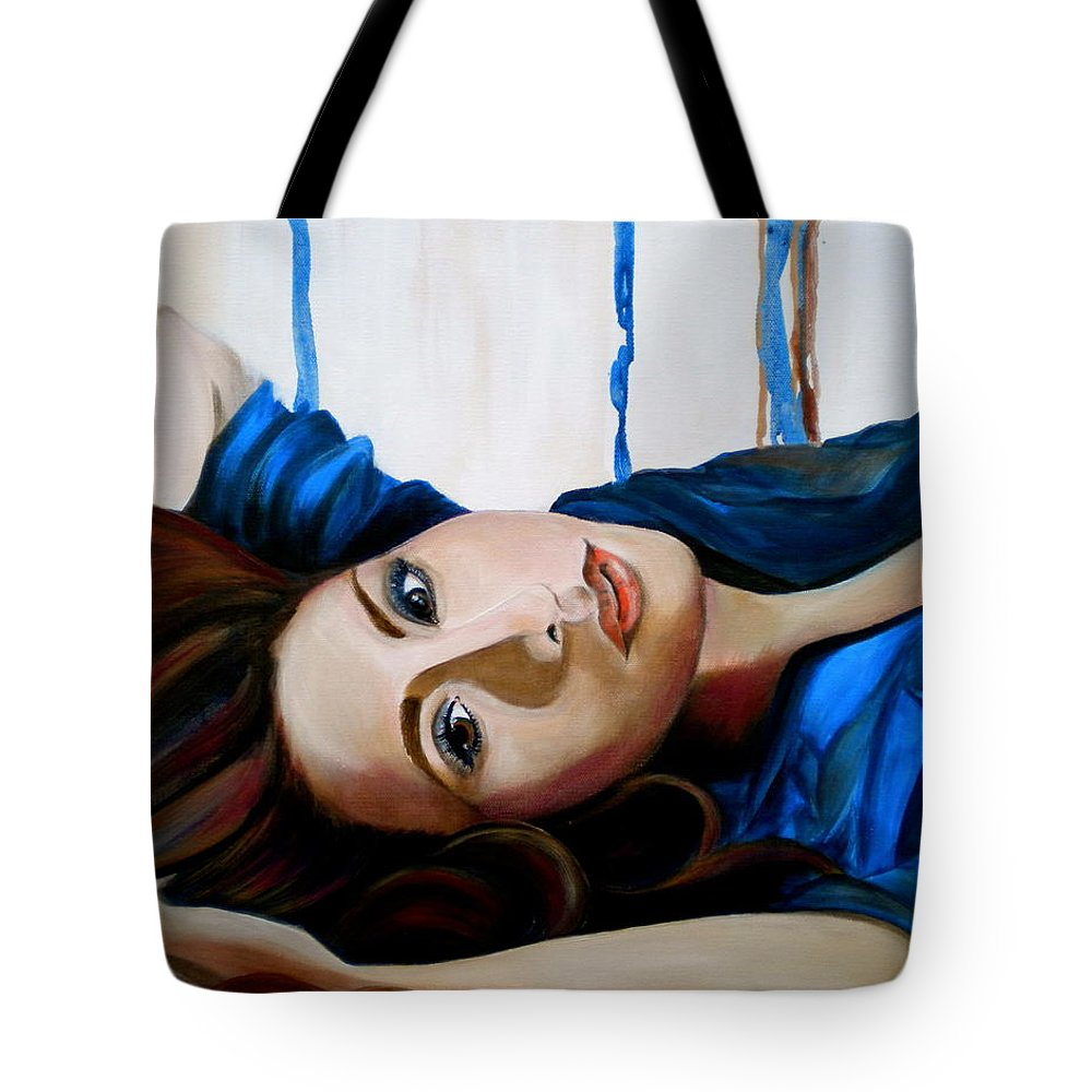 Tranquility Tote Bag featuring the painting Tranquility by Debi Starr