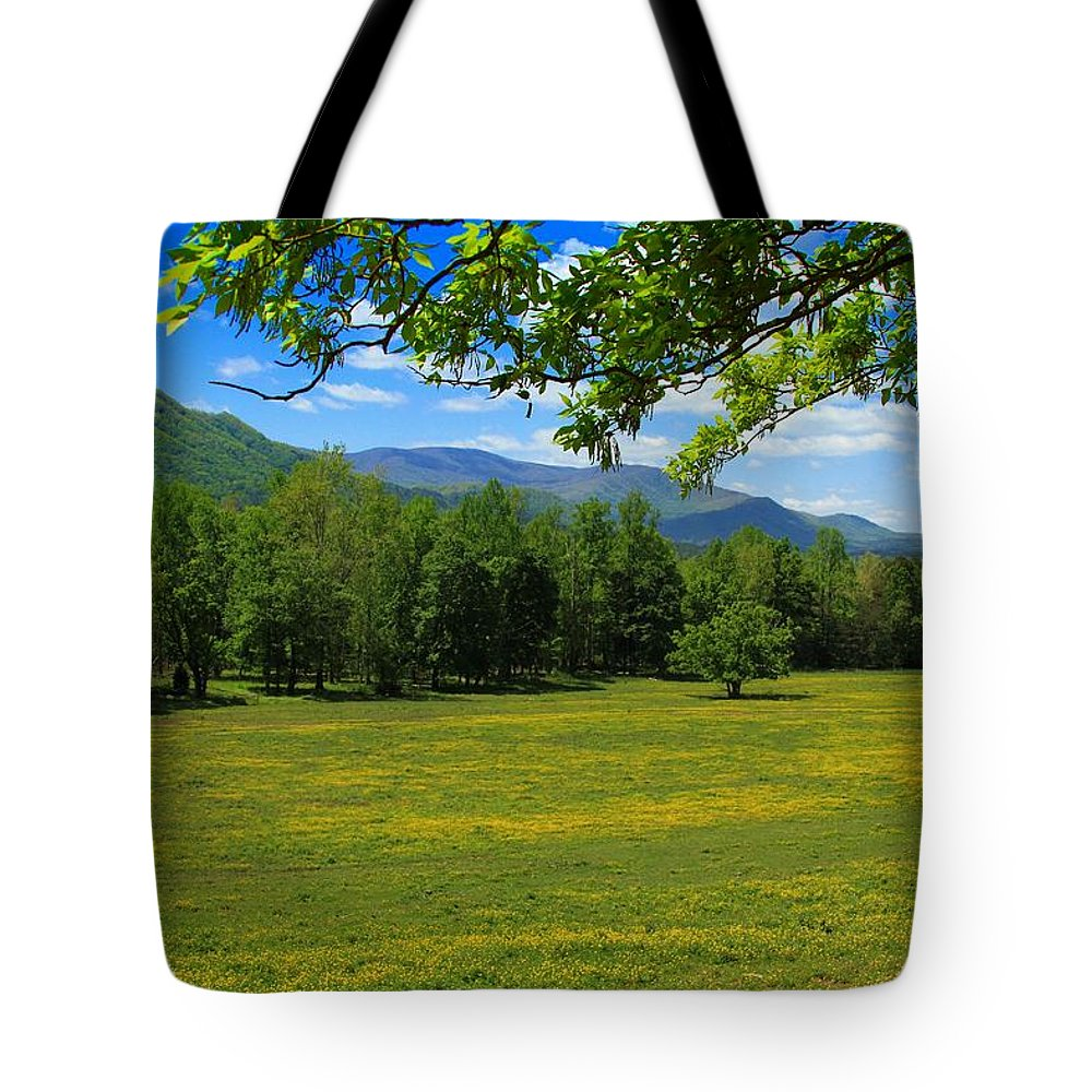 Mountains Tote Bag featuring the photograph Tranquility by Geraldine DeBoer