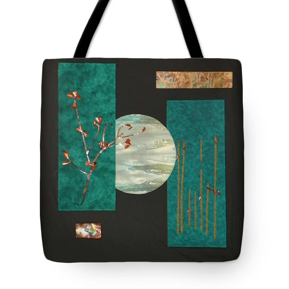 Moon Tote Bag featuring the mixed media Tranquility by Jenny Williams