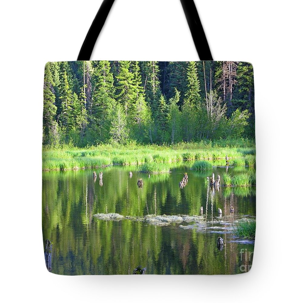 Manning Provincial Park Tote Bag featuring the photograph Tranquility by Lena Photo Art