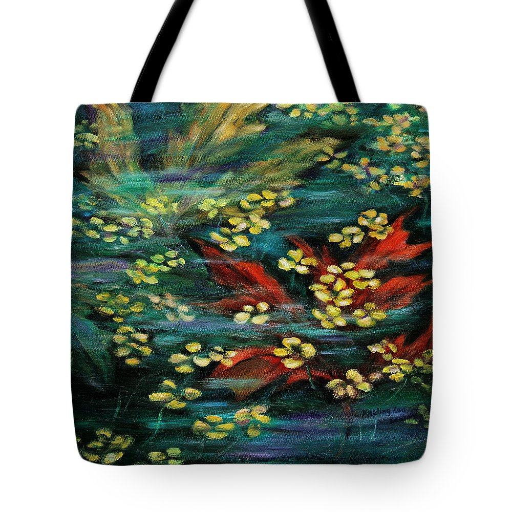 Nature Tote Bag featuring the painting Transforming... by Xueling Zou