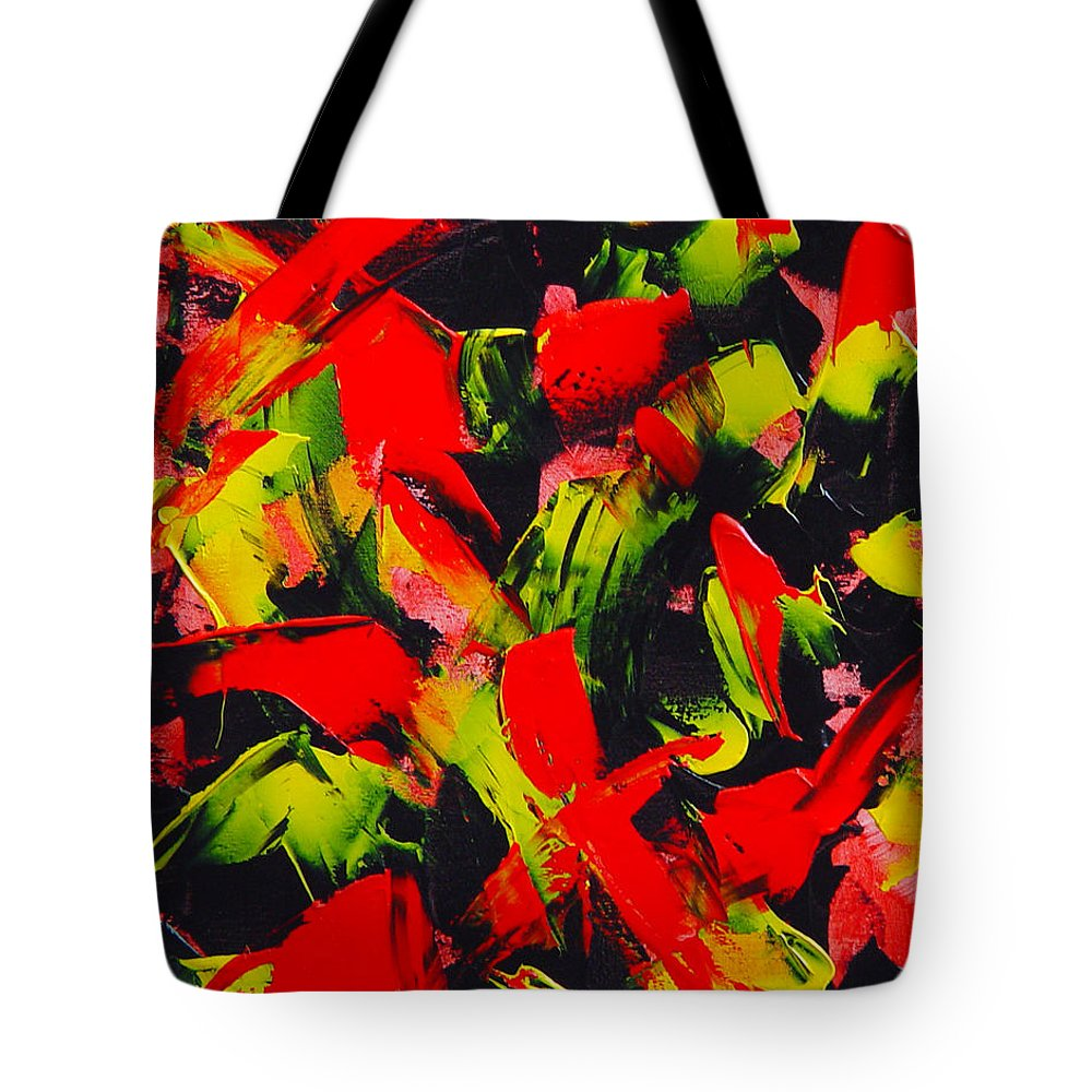 Abstract Tote Bag featuring the painting Transitions IIi by Dean Triolo