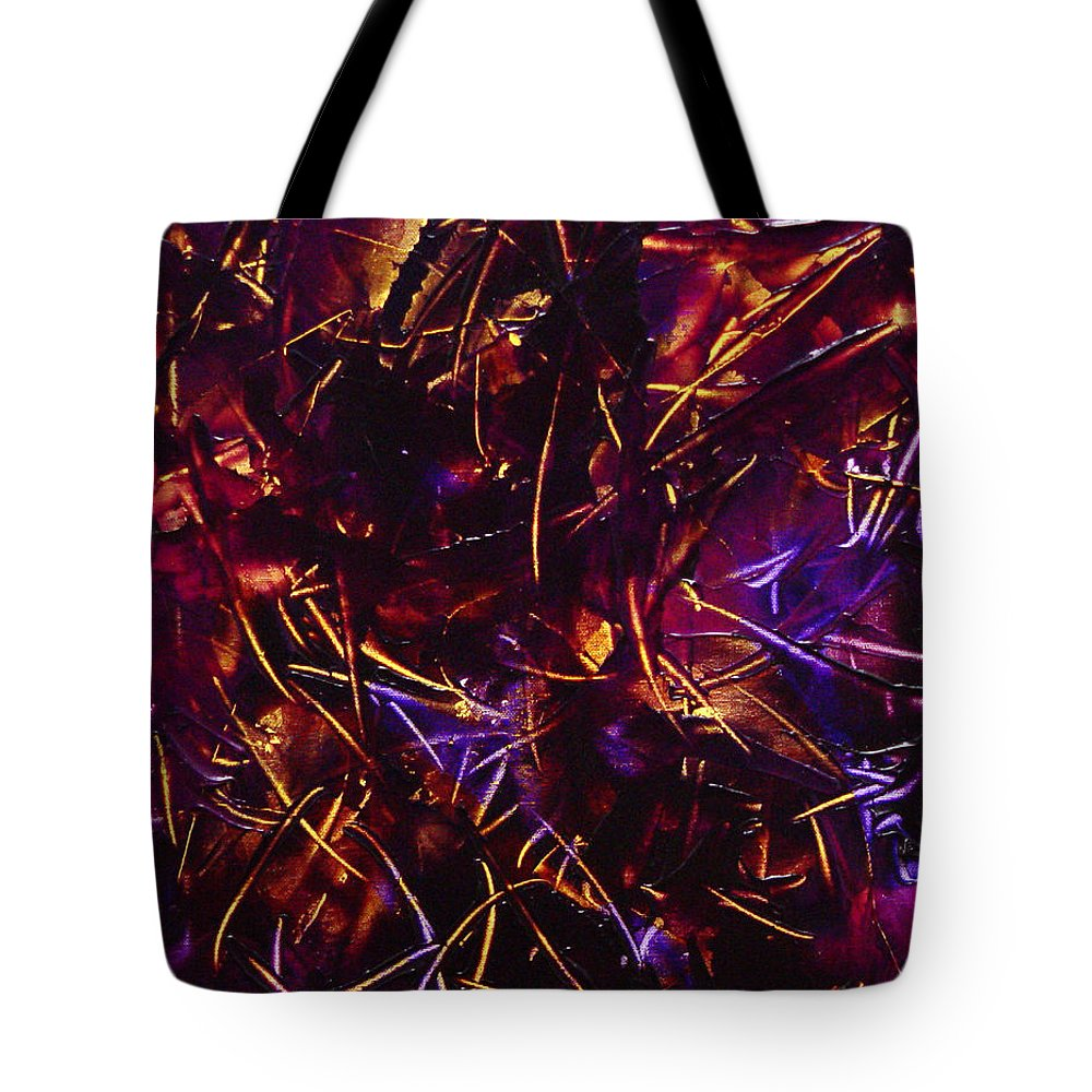 Abstract Tote Bag featuring the painting Transitions X by Dean Triolo