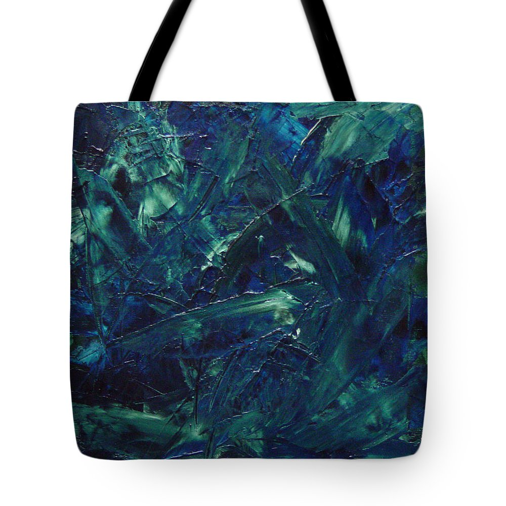 Abstract Tote Bag featuring the painting Transtions Xi by Dean Triolo