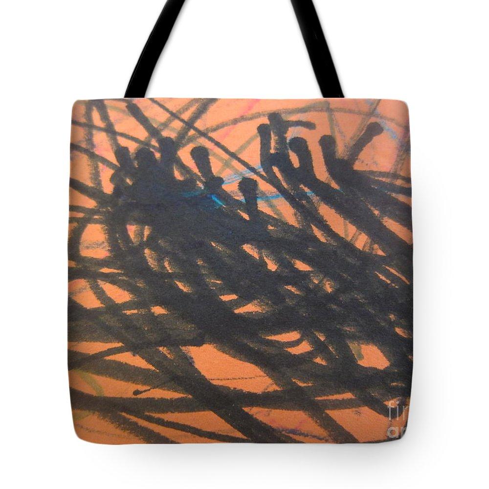 Art Tote Bag featuring the mixed media Treads 10 by Iyanuoluwa Adeshina