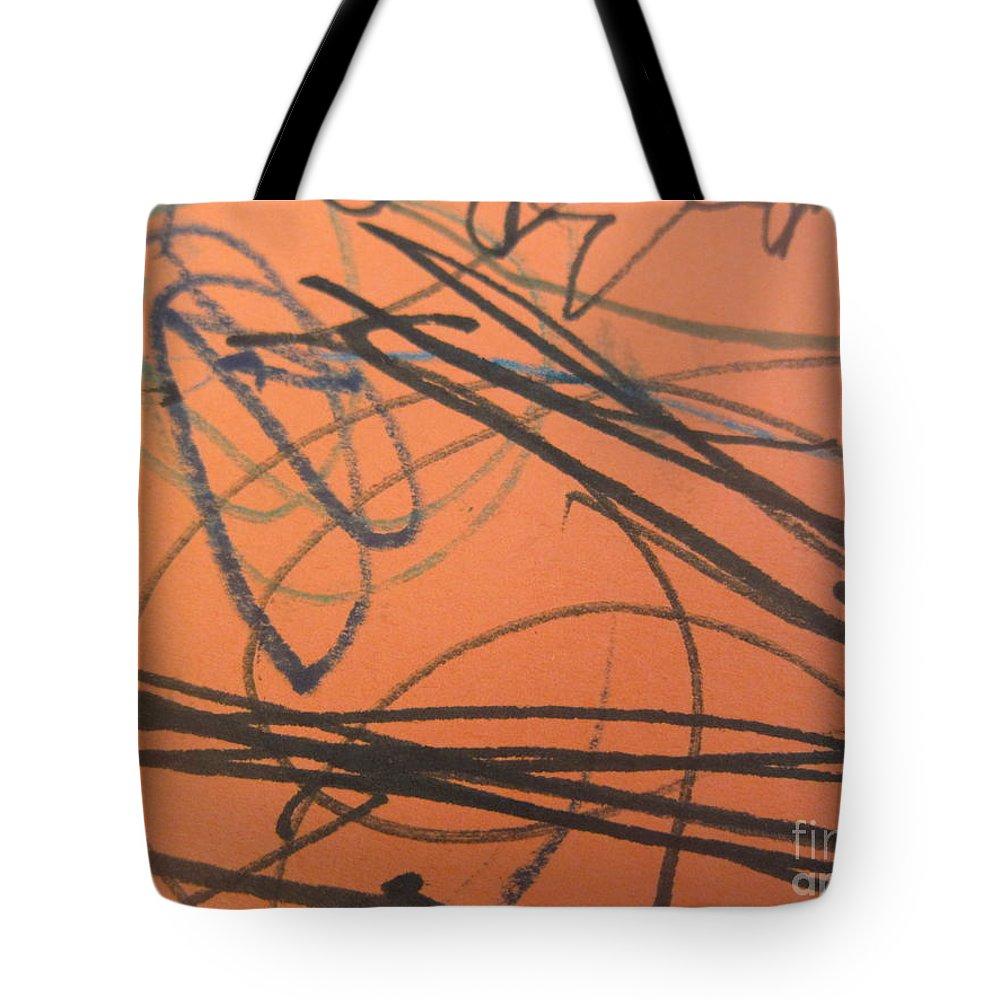 Art Tote Bag featuring the mixed media Treads 11 by Iyanuoluwa Adeshina