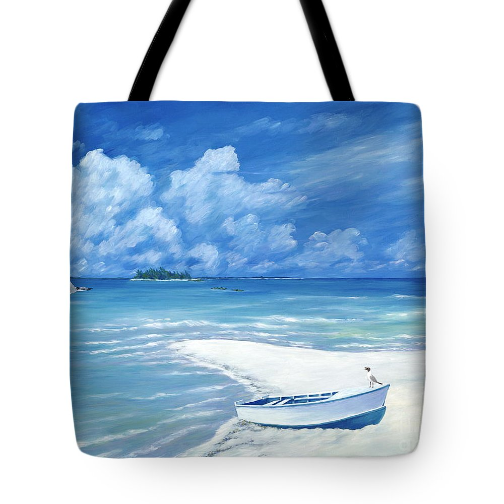 Seascape Tote Bag featuring the painting Treasure Cay by Danielle Perry