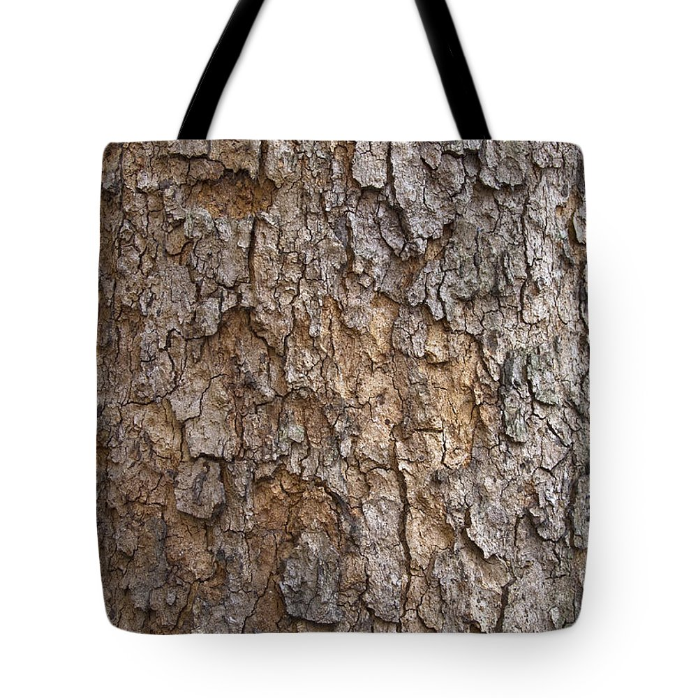 Tree Tote Bag featuring the photograph Tree Bark Background Texture by David Gn