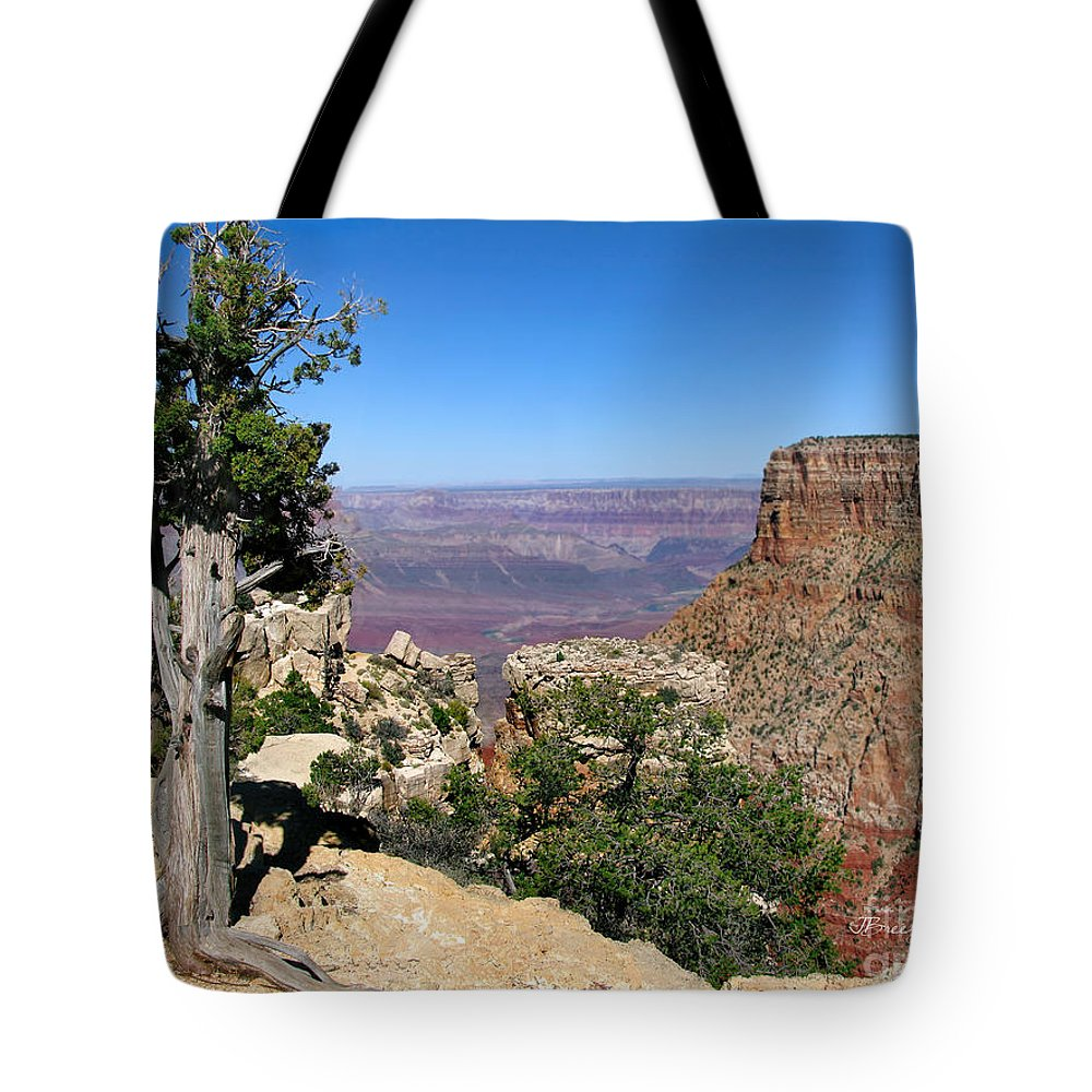 Grand Canyon Tote Bag featuring the photograph Tree In The Grand Canyon by Jennie Breeze