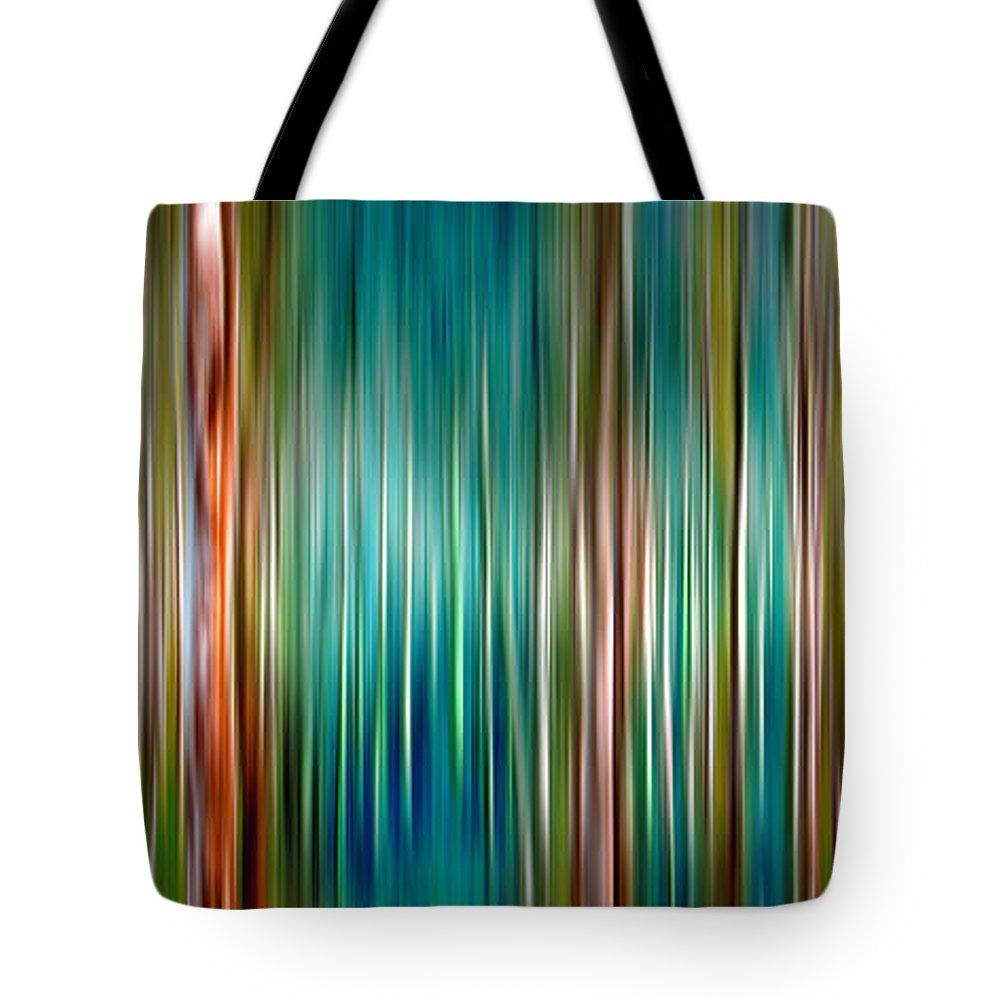 Blurry Digital Art Tote Bags