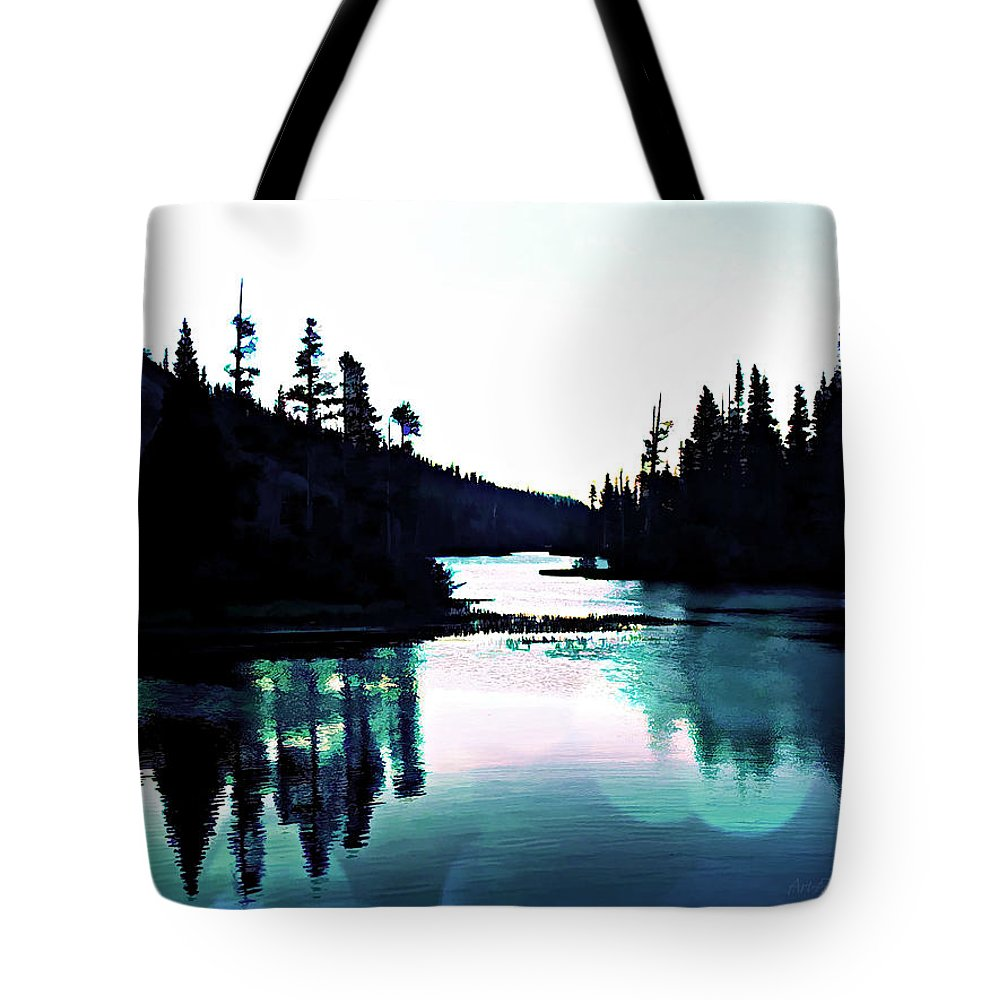 Digital Paint Effect Tote Bag featuring the digital art Tree Of Life Digital Paint Effect by Sharon Tate Soberon