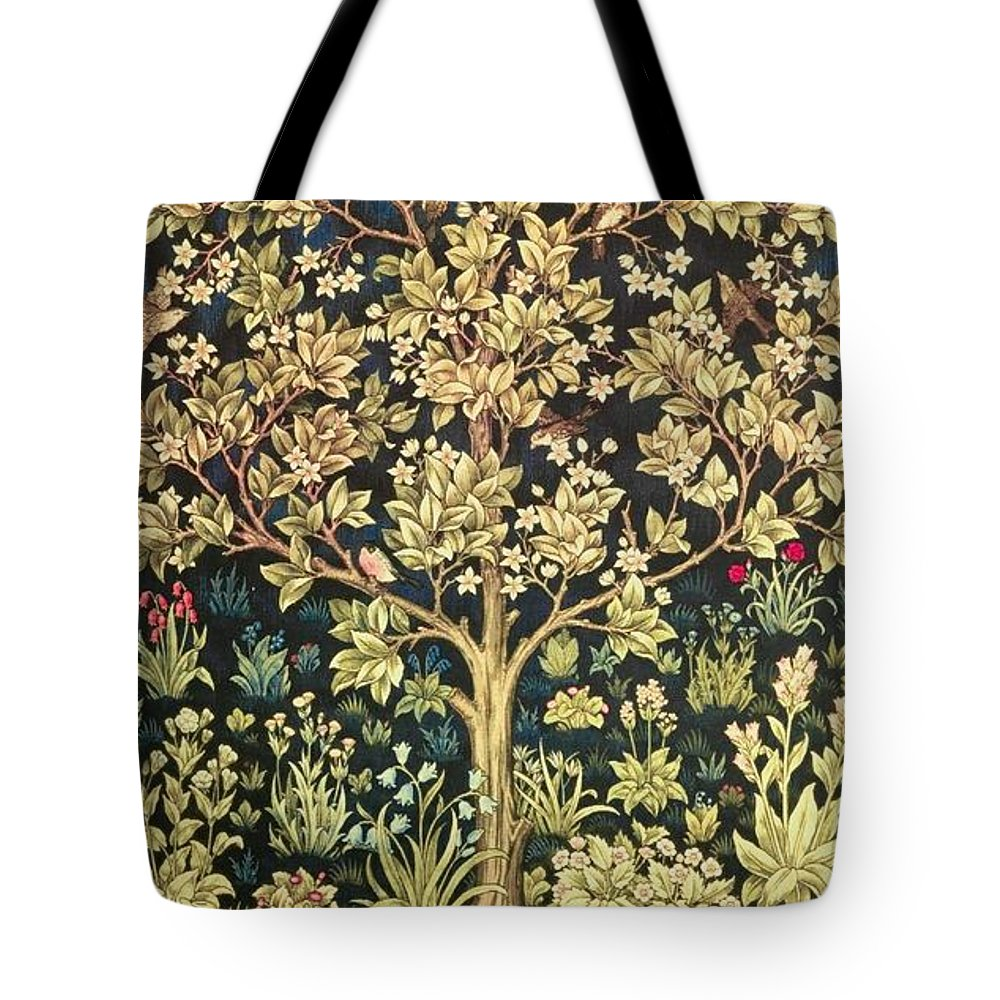 William Morris Tote Bag featuring the painting Tree Of Life by William Morris