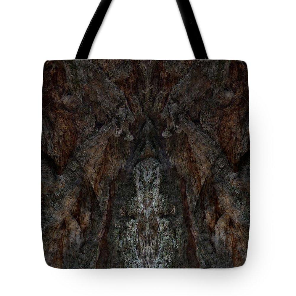 Tree Spirit Tote Bag featuring the digital art Tree Spirit by Louis Ferreira