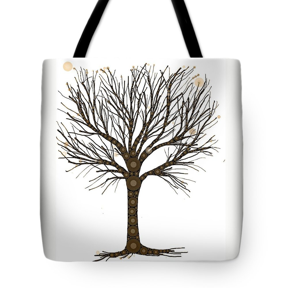 A Tree Tote Bag featuring the digital art Treedom by Steven Boland