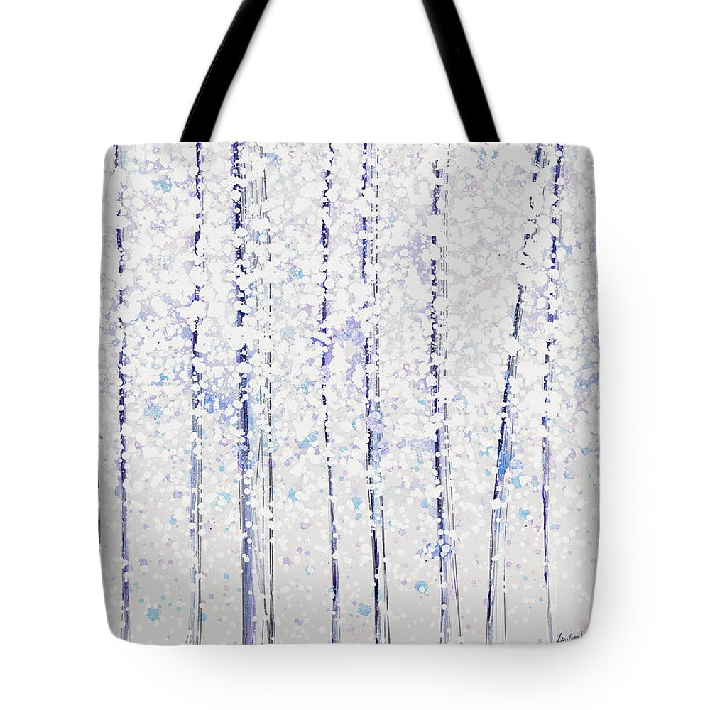 Beautiful Tote Bag featuring the painting Trees At Twilight Xx by Jerome Lawrence