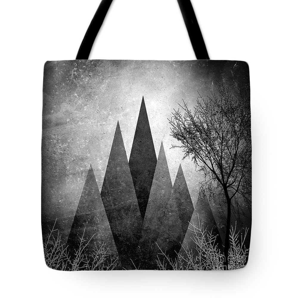 Geometric Tote Bag featuring the digital art Trees V I I I by PIA Schneider