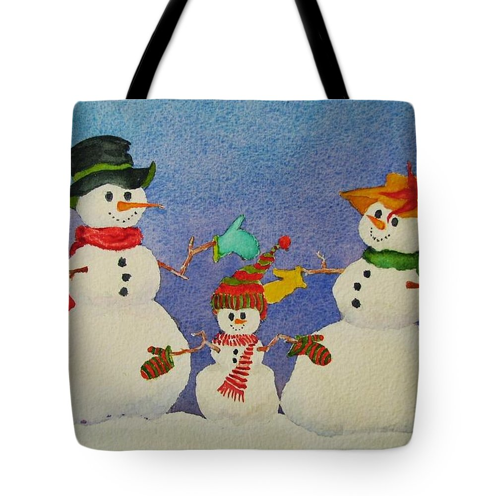 Winter Tote Bag featuring the painting Tres Chic by Mary Ellen Mueller Legault