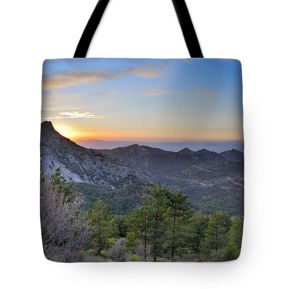 Sunset Tote Bag featuring the photograph Trevenque Mountain At Sunset 2079 M by Guido Montanes Castillo