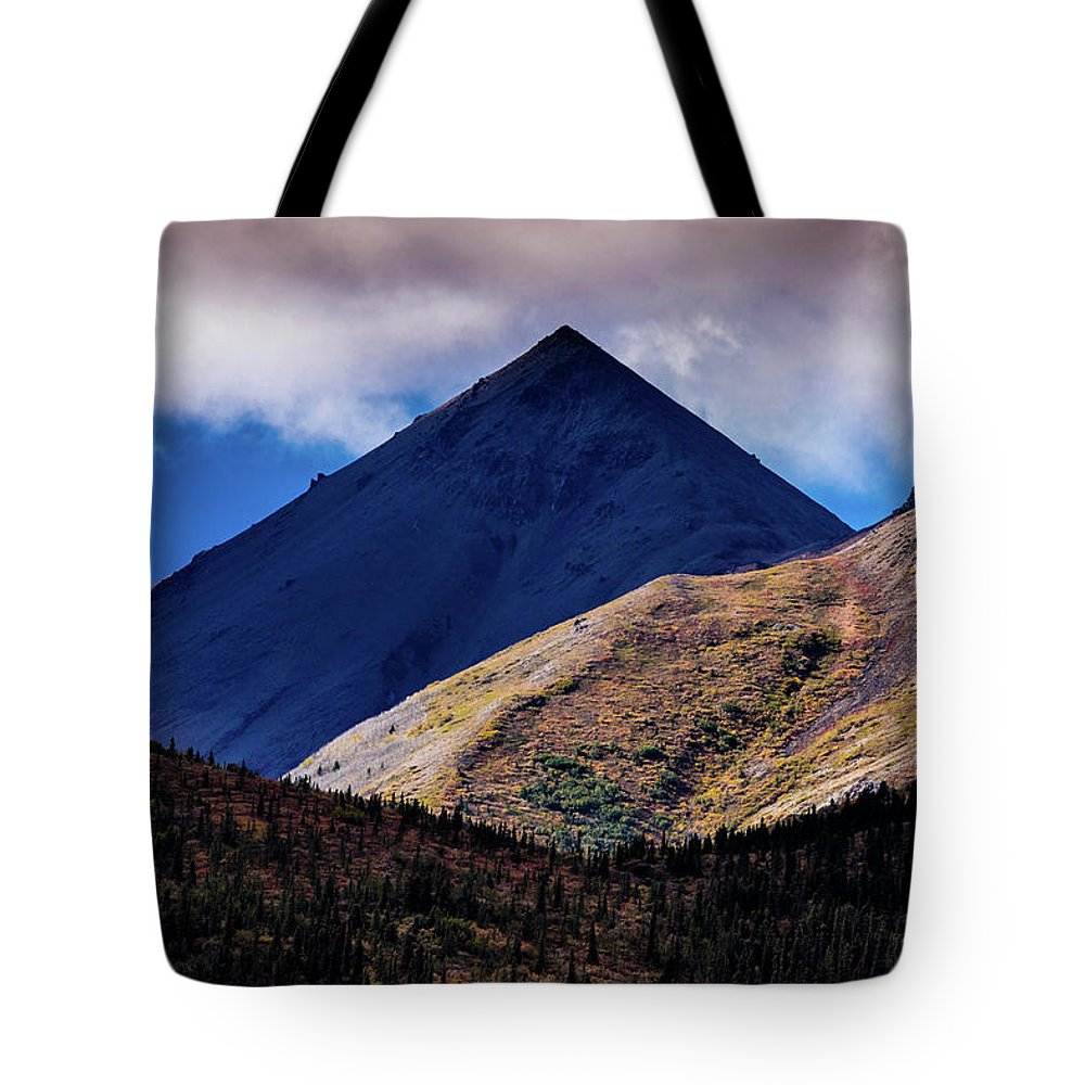 Photography Tote Bag featuring the photograph Triangular Pyramid Mountain, Denali by Panoramic Images