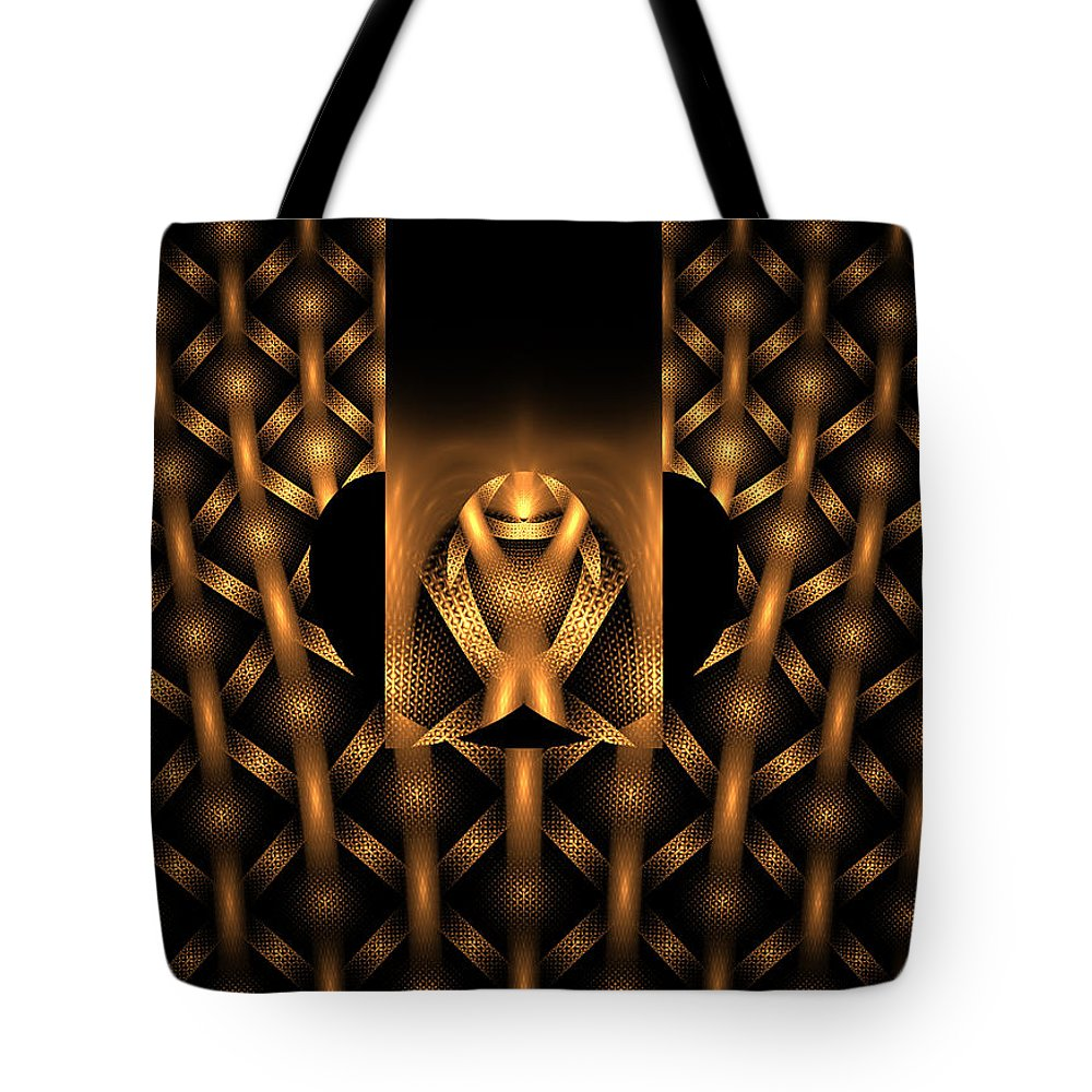 Tile Tote Bag featuring the digital art Tribal by Robert Mawby