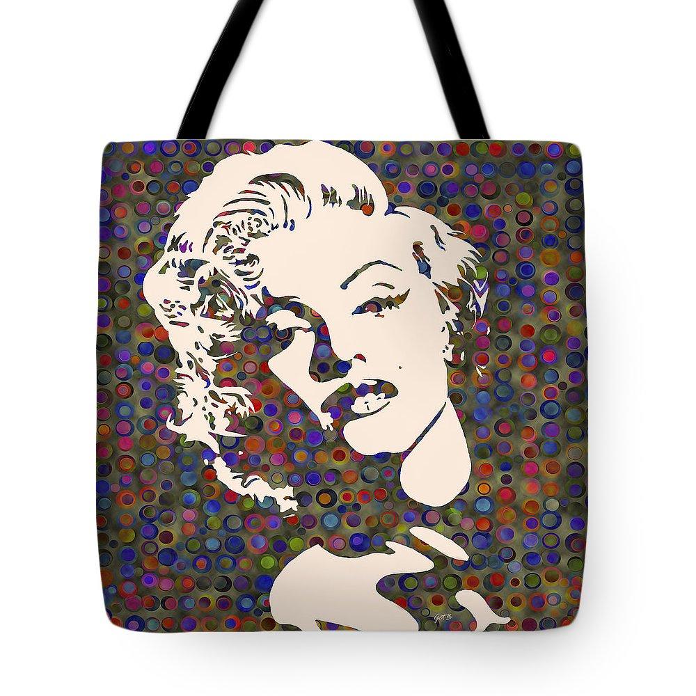 Marilyn Monroe Actress Tote Bag featuring the painting Tribute To Marilyn Monroe by Georgeta Blanaru