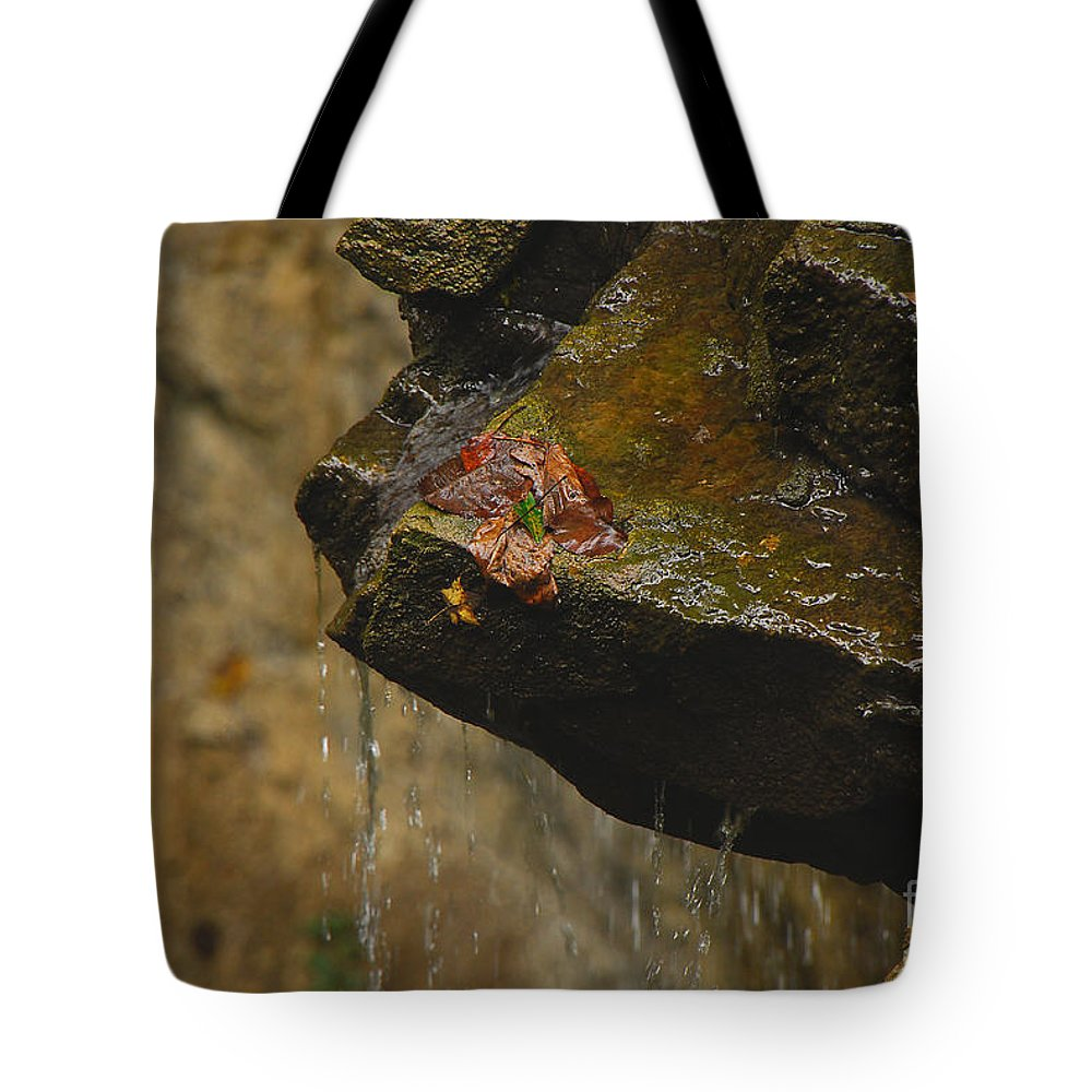 Water Tote Bag featuring the photograph Trickling Water by Mary Carol Story