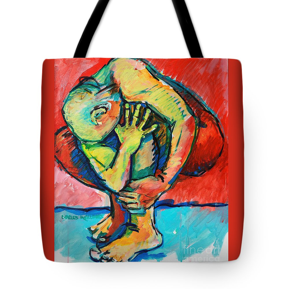Struggles Tote Bag featuring the painting Trilogy - N My Soul 2 by Charles M Williams