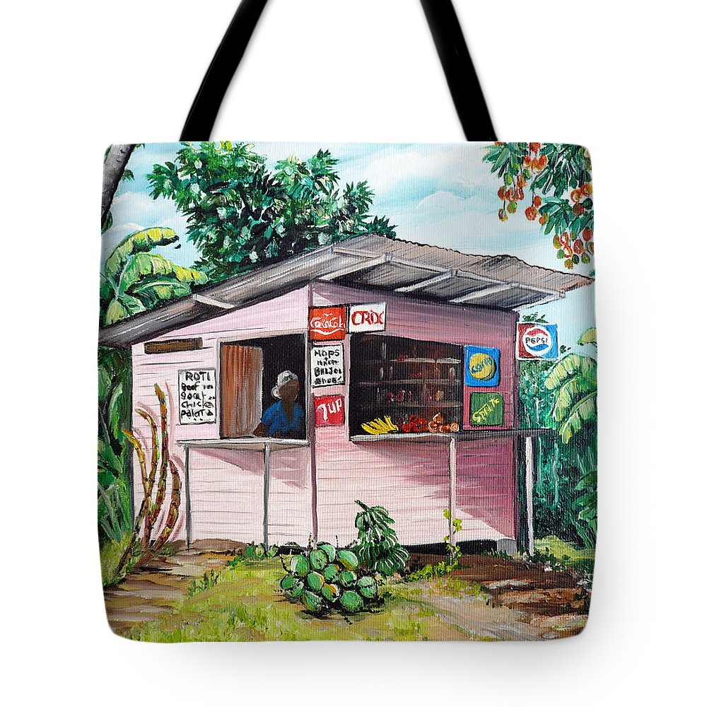 Shop Painting Tote Bag Featuring The Trini Roti By Karin Dawn Kelshall Best