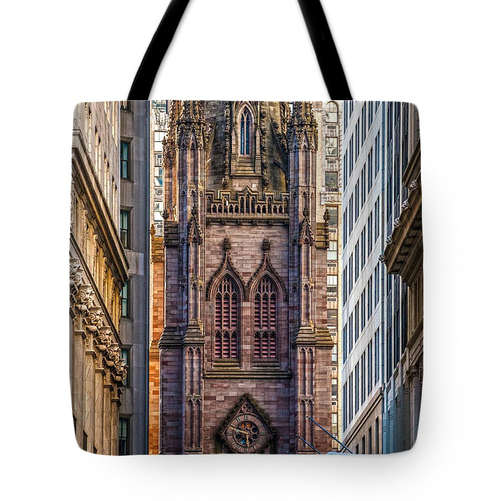 Usa Tote Bag featuring the photograph Trinity Church - New York City by Luciano Mortula