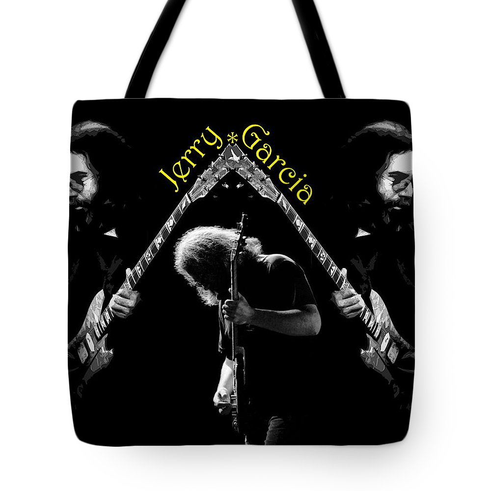 Jerry Garcia Tote Bag featuring the photograph Trinity Garcia 4 by Ben Upham