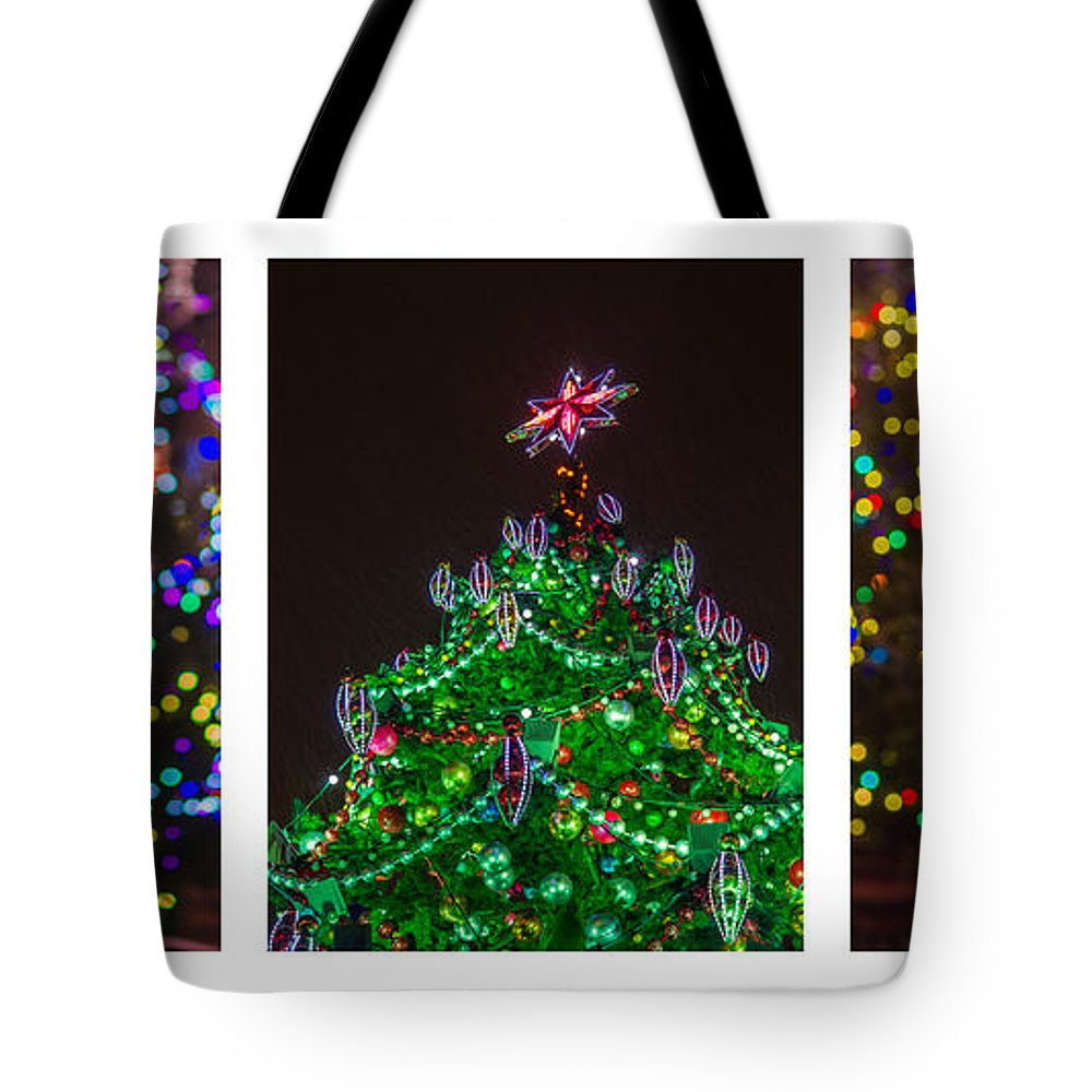 Santa Tote Bag featuring the photograph Triptych - Christmas Trees - Featured 3 by Alexander Senin