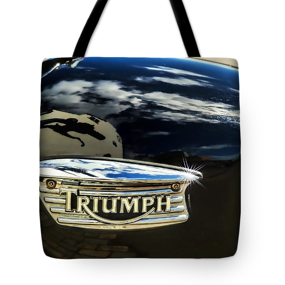 Bike Tote Bag featuring the photograph Triumph by Susie Peek